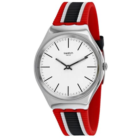 Swatch Men's SYXS114 'Skinflag' Multi-color Silicone Watch