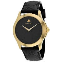 8048b0be46f348 Shop Gucci Unisex YA126461  G-Timeless  Gold-Tone Stainless Steel ...