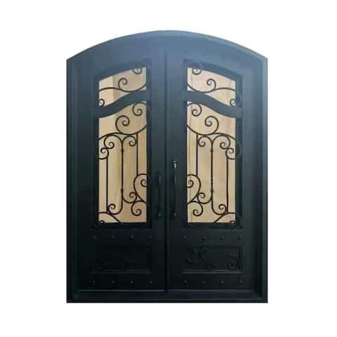 ALEKO Iron Dual Door with Frame and Threshold 96 x 72 Inches