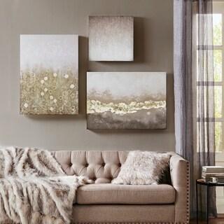 Madison Park Radiant Impression Multi Hand Embellished Canvas Set of 3