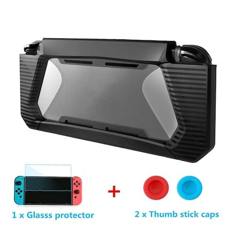 Coutlet Compatible Accessories for Nintendo Switch Case Screen Protector TPU Protective