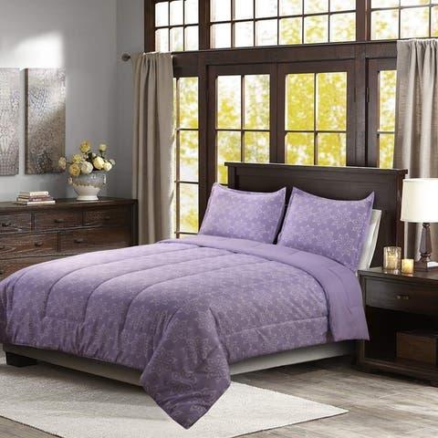 HONEYMOON HOME FASHIONS Reversible Comforter Set 3PC