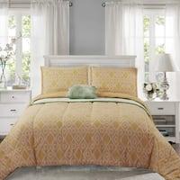 HONEYMOON HOME FASHIONS Reversible Comforter Set with Blanket