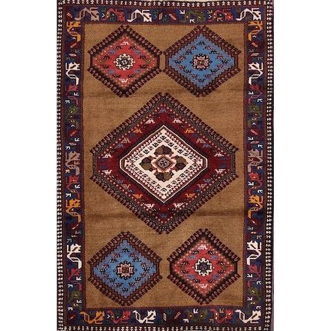 "Yalameh Shiraz Persian Handmade Wool South Western Area Rug - 4'3"" x 2'10"""