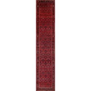 "Hand Made Wool Traditional Hossainabad Hamedan Persian Rug - 17'2"" x 3'6"" Runner"