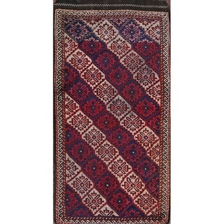 "Kazak Caucasian Antique Russian Handmade Traditional Oriental Area Rug - 6'1"" x 3'3"""