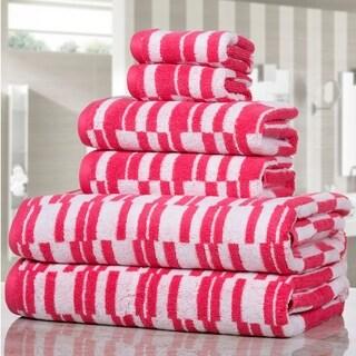 Casa Platino - Stratus Stripe 600 GSM 6 Piece Luxury Towel Set