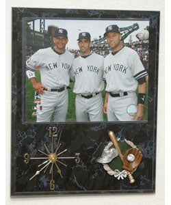 Yankees Big 3 Quartz Clock Plaque