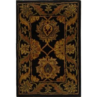 Safavieh Handmade Heritage Timeless Traditional Black Wool Rug (2' x 3')