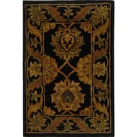 Safavieh Handmade Heritage Timeless Traditional Black Wool Rug - 2' x 3'
