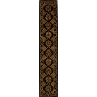 Safavieh Handmade Heritage Timeless Traditional Black Wool Runner (2'3 x 8')