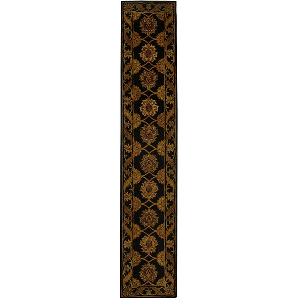 Safavieh Handmade Heritage Timeless Traditional Black Wool Runner (2'3 x 8')