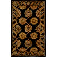 Safavieh Handmade Heritage Timeless Traditional Black Wool Rug - 3' x 5'