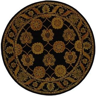 Safavieh Handmade Heritage Timeless Traditional Black Wool Rug (3'6 Round)
