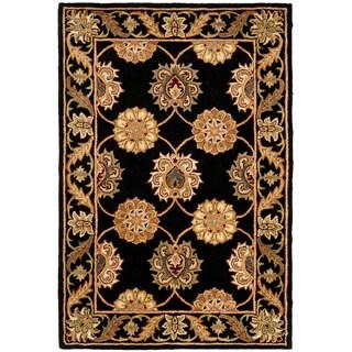 Safavieh Handmade Heritage Timeless Traditional Black Wool Rug (4' x 6')