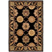 Safavieh Handmade Heritage Timeless Traditional Black Wool Rug - 4' x 6'