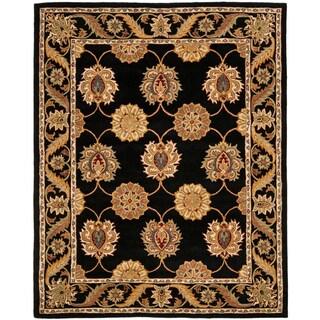 Safavieh Handmade Heritage Timeless Traditional Black Wool Rug (5' x 8')
