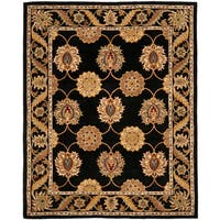 Safavieh Handmade Heritage Timeless Traditional Black Wool Rug - 5' x 8'