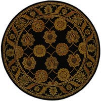 Safavieh Handmade Heritage Timeless Traditional Black Wool Rug - 6' x 6' Round