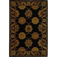Safavieh Handmade Heritage Timeless Traditional Black Wool Rug - 6' x 9'