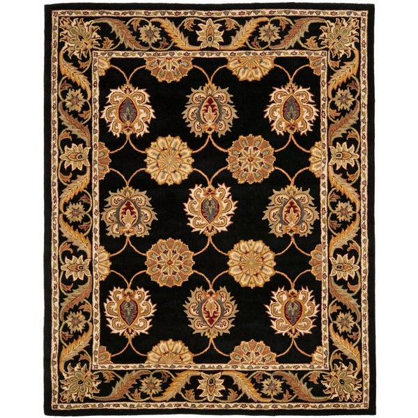 Safavieh Handmade Heritage Timeless Traditional Black Wool Rug - 7'6 x 9'6