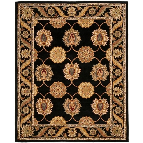 "Safavieh Handmade Heritage Timeless Traditional Black Wool Rug - 7'-6"" x 9'-6"""