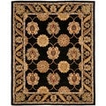 "Safavieh Handmade Heritage Timeless Traditional Black Wool Rug - 7'6"" x 9'6"""