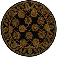 Safavieh Handmade Heritage Timeless Traditional Black Wool Rug (8' Round)