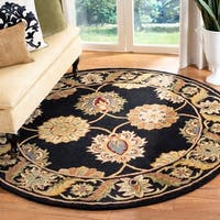 Safavieh Handmade Heritage Timeless Traditional Black Wool Rug - 8' x 8' Round