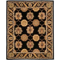 Safavieh Handmade Heritage Timeless Traditional Black Wool Rug (8'3 x 11')