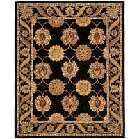 "Safavieh Handmade Heritage Timeless Traditional Black Wool Rug - 8'-3"" x 11'"