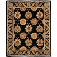 "Safavieh Handmade Heritage Timeless Traditional Black Wool Rug - 8'3"" x 11'"