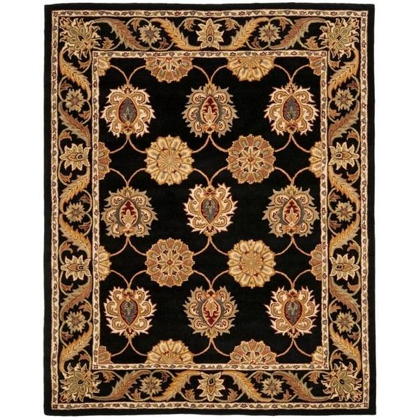 "Safavieh Handmade Heritage Timeless Traditional Black Wool Rug - 8'3"" x 11'"