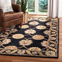 "Safavieh Handmade Heritage Timeless Traditional Black Wool Rug - 9'-6"" X 13'-6"""