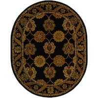 Safavieh Handmade Heritage Timeless Traditional Black Wool Rug (7'6 x 9'6 Oval)