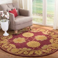 Safavieh Handmade Heritage Timeless Traditional Red Wool Rug - 6' x 6' Round