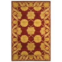 Safavieh Handmade Heritage Timeless Traditional Red Wool Rug - 6' x 9'