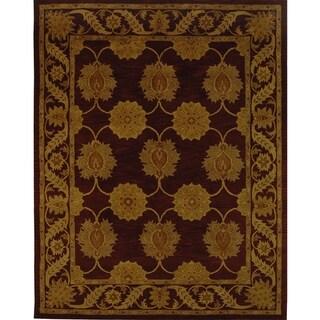 Safavieh Handmade Heritage Timeless Traditional Red Wool Rug (7'6 x 9'6)