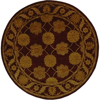 Safavieh Handmade Heritage Timeless Traditional Red Wool Rug (8' Round)