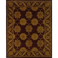 "Safavieh Handmade Heritage Timeless Traditional Red Wool Rug - 9'-6"" x 13'-6"""