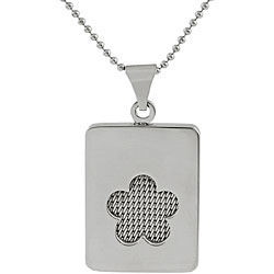 Stainless Steel Cutout Mesh Clover Necklace