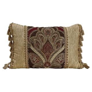 Gracewood Hollow Modi Woven Trimmed Boudoir Pillow - 19 x 13
