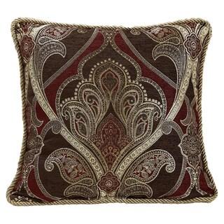 Bradney Damask 18 Inch Decorative Throw Pillow