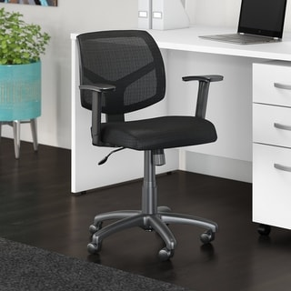 Bush Business Furniture Petite Mesh Back Office Chair in Black