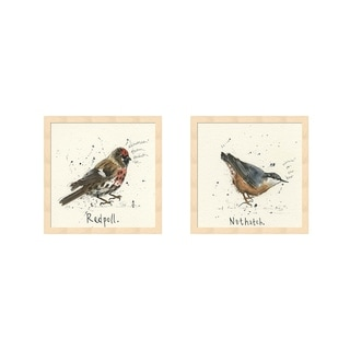 Michelle Campbell 'Redpoll & Nuthatch' Framed Art (Set of 2)