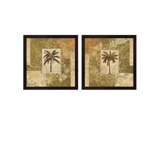 NBL Studio 'Palm Patchwork' Framed Art (Set of 2)