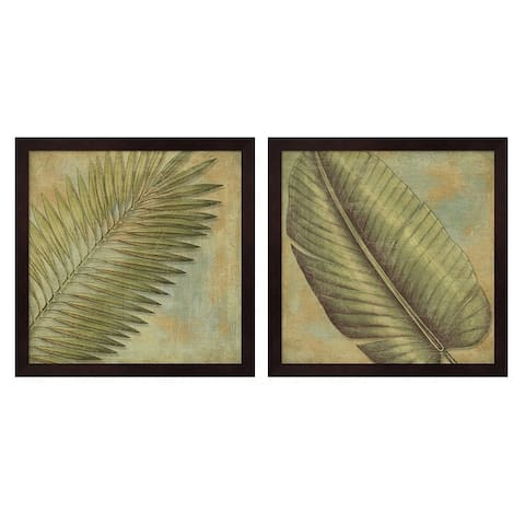 Porch & Den Daphne Brissonnet 'Green Tropic B' Framed Art (Set of 2)