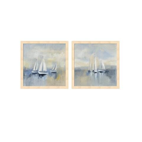 Silvia Vassileva 'Morning Sail' Framed Art (Set of 2)