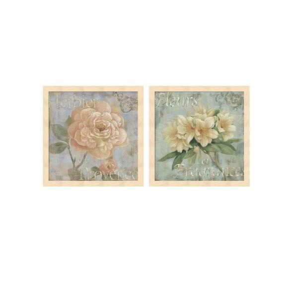 Daphne Brissonnet Vintage Fragrance B Framed Art Set Of 2 Overstock 26507143