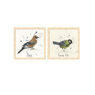 Michelle Campbell 'Jay & Great Tit' Framed Art (Set of 2)